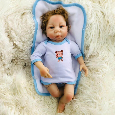 "Faith Pure 18"" Brown Hair Reborn Baby Doll Girl - Newborn Doll"