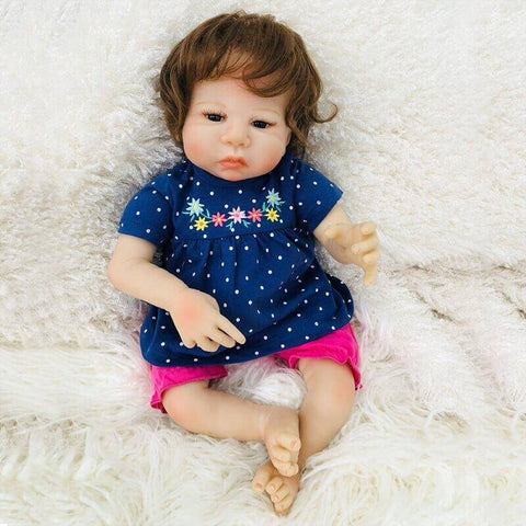 Farrah: Brown Eyes Cuddle Baby Toddler Girl - Newborn Doll