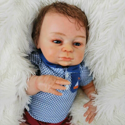 "Ingolf: 18"" Fastidious Face Baby Doll Boy - Newborn Doll"