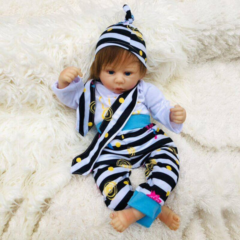 "Kelly: 18"" New Born Look Mixed Race Baby Doll Girl - Newborn Doll"