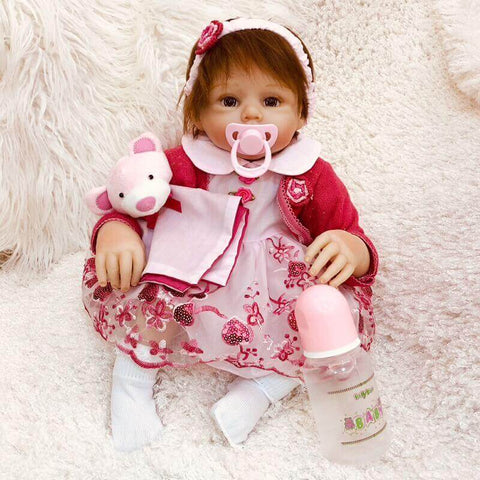 20 Inches Lovely Baby Girl Doll Natasha - Kiss Reborn