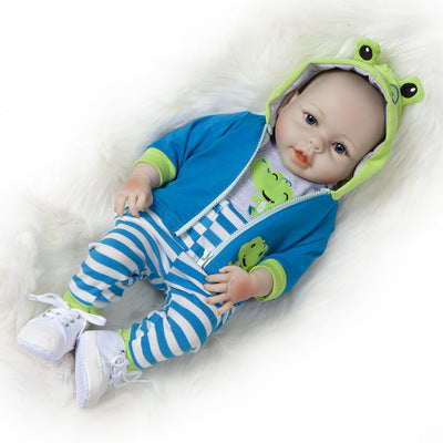 Gabriel: Life-like Open Mouth Baby Doll Boy - Newborn Doll