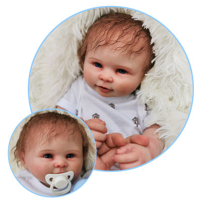Sam: Prettiest Blue Eyes Baby Doll Boy from Heaven - Newborn Doll