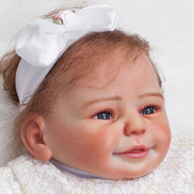 Mary: Real Skin Feel Baby Doll Girl - Newborn Doll
