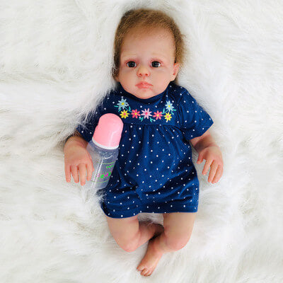 Louise: 20 Inch Realistic Sweet Reborn Toddler Girl Doll - Kiss Reborn
