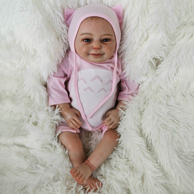 Amber: Cute Cloth Body Reborn Baby Doll Girl - Kiss Reborn