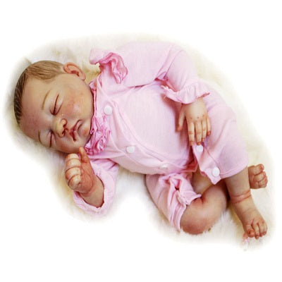 Tina: 1.18 KG New Arrival Realistic Feel Newborn Baby Doll Girl - Newborn Doll
