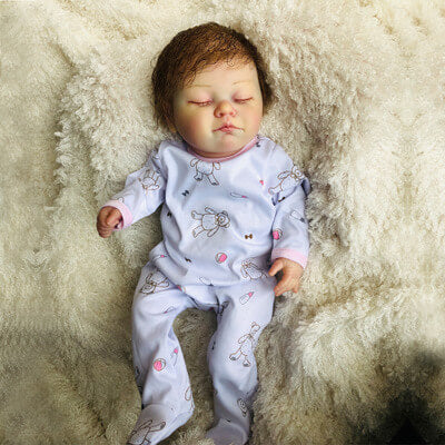 Mandy: Cute Lifelike Sleeping Baby Doll Girl - Newborn Doll