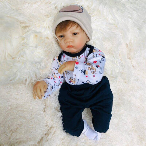 Marshall: High Quality Vinyl Toddler Doll with Moveable Limbs - Newborn Doll