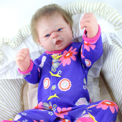 Eden: Blue Eyes Lifelike Open Mouth Reborn Toddler Baby Girl - Kiss Reborn