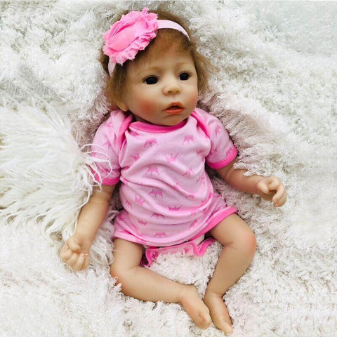Fawziya: Realistic-looking Cuddle Inexpensive Open Mouth Baby Doll Girl - Newborn Doll