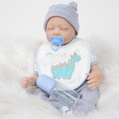"Ed: 22"" Rosy Cheeks Sleeping Reborn Baby Doll Boy - Kiss Reborn"