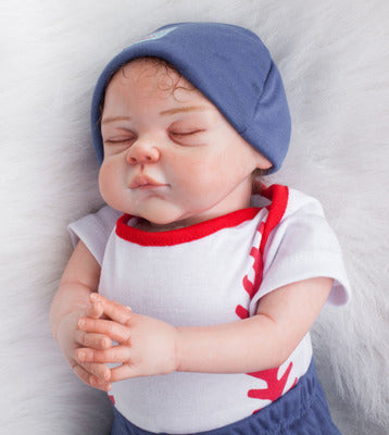 "Sean: 22"" Hand-made Perfect Life-like Sleeping Baby Boy Doll - Kiss Reborn"