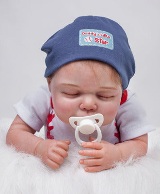 "Jaxon: 22"" High-quality Tiny Feet Collectible Sleeping Real Baby Doll Boy - Newborn Doll"