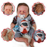 Daniel: Curled up Sleeping Real Baby Feel Doll Boy - Kiss Reborn