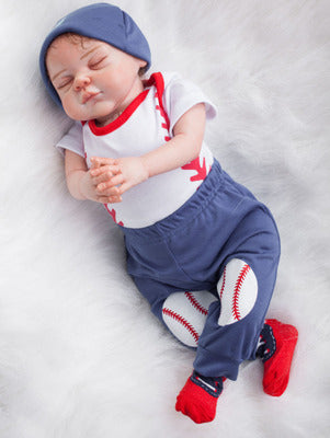"Sean: 22"" Hand-made Perfect Life-like Sleeping Baby Boy Doll - Newborn Doll"