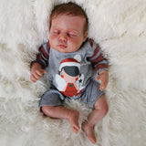 Daniel: Curled up Sleeping Real Baby Feel Doll Boy - Newborn Doll