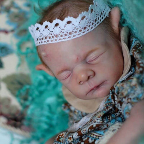 Jimmy: Garland Crown Realistic Sleeping Reborn Baby Boy - Newborn Doll