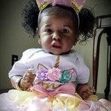 Echo: Pretty Real Like Collectible Black Baby Doll Girl - Newborn Doll