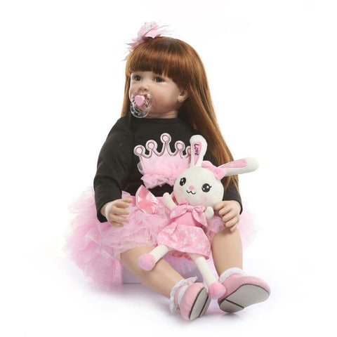 Pink Skirt Best Selling Princess Reborn Baby Cinderella - Newborn Doll