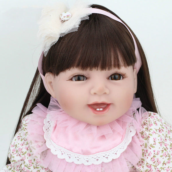 Olivia - 22'' Charming Realistic Reborn Baby Girl Little Princess NPK Doll - Kiss Reborn