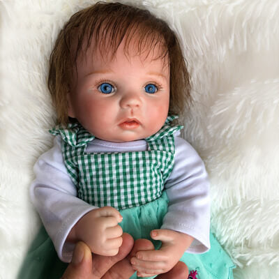 "Belinda: 15"" Little Lovely Reborn Baby Doll Girl - Kiss Reborn"