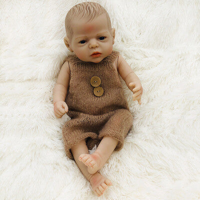 Benjamin: Deep Blue Eyes Gentle Newborn Doll Boy - Kiss Reborn