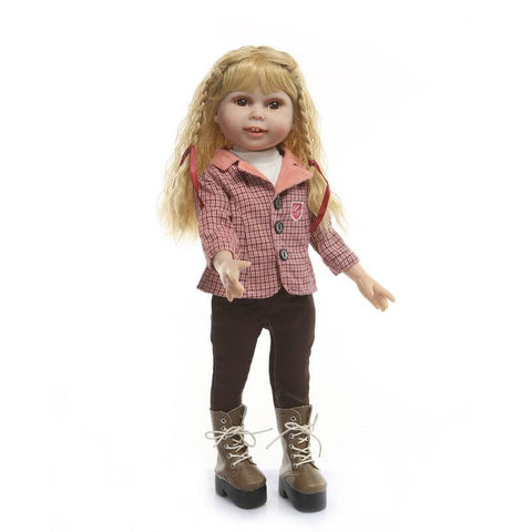 "18"" Blonde Charming NPK Reborn Toddler Girl Polly - Kiss Reborn"