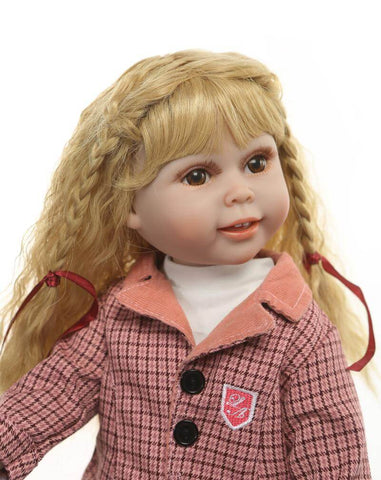 "18"" Blonde Charming NPK Reborn Toddler Girl Polly - Newborn Doll"