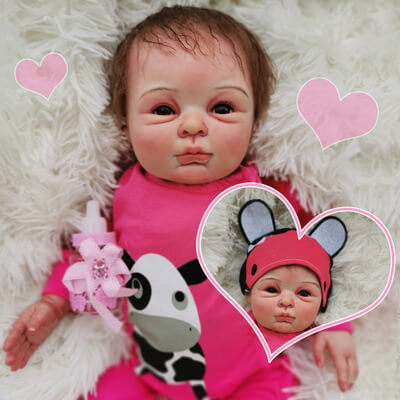 Catherine: Naughty Life-like Reborn Baby Doll Girl With Chubby Rosy Cheeks - Newborn Doll