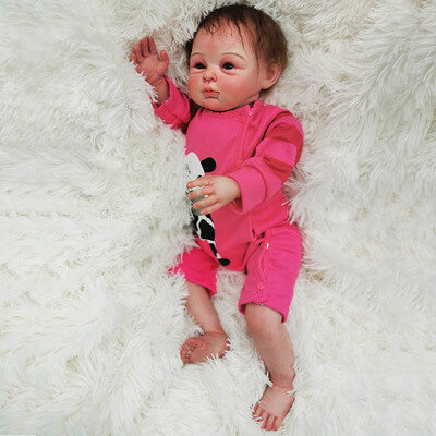 Catherine: Naughty Life-like Reborn Baby Doll Girl With Chubby Rosy Cheeks - Kiss Reborn