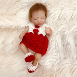 Fay: Ethnic Biracial Blonde Sleeping Baby Doll Girl - Newborn Doll