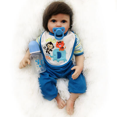 Gia: Big Black Eyes Real Touch Skin Reborn Baby Girl - Newborn Doll