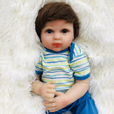 Gia: Big Black Eyes Real Touch Skin Reborn Baby Girl - Kiss Reborn