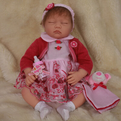 Lily: Sleeping Chuppy Face Reborn Baby Doll Girl - Newborn Doll