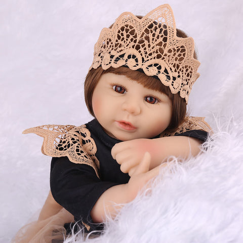 "Monique: 22"" Little Princess Realistic Toddler Girl Doll - Newborn Doll"