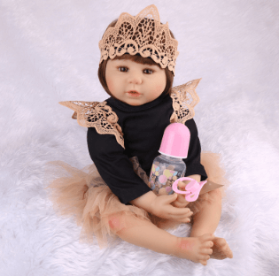 "Monique: 22"" Little Princess Realistic Toddler Girl Doll - Kiss Reborn"