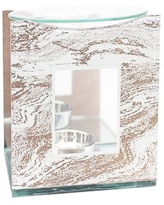Rose Gold Marble Effect Glitter Oil Burner