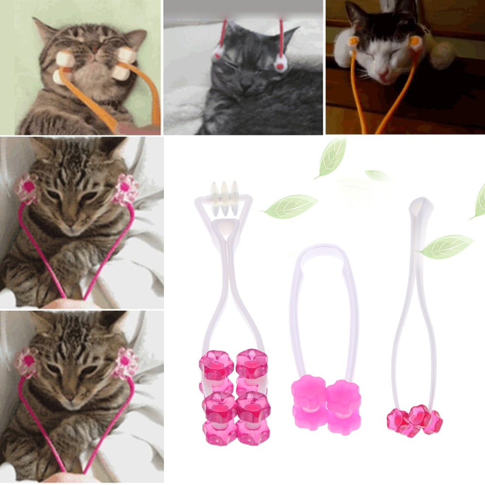 MerryBIY Cat Massage Tool Cat Thin Face Massager Feet Leg Massager Health Care Grooming Tool for Cat Supplies Pet Products