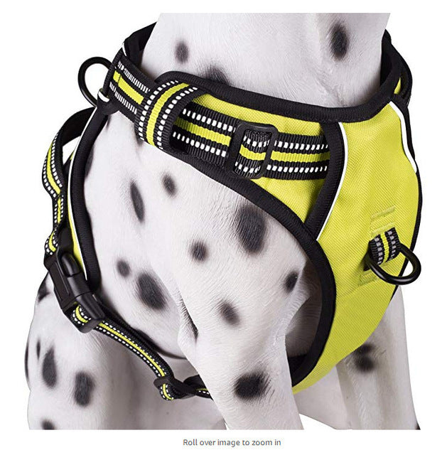 MerryBIY Dog Harness No Pull Adjustable Pet Reflective Oxford Vest for Large Medium Large Dogs Easy Control Harness