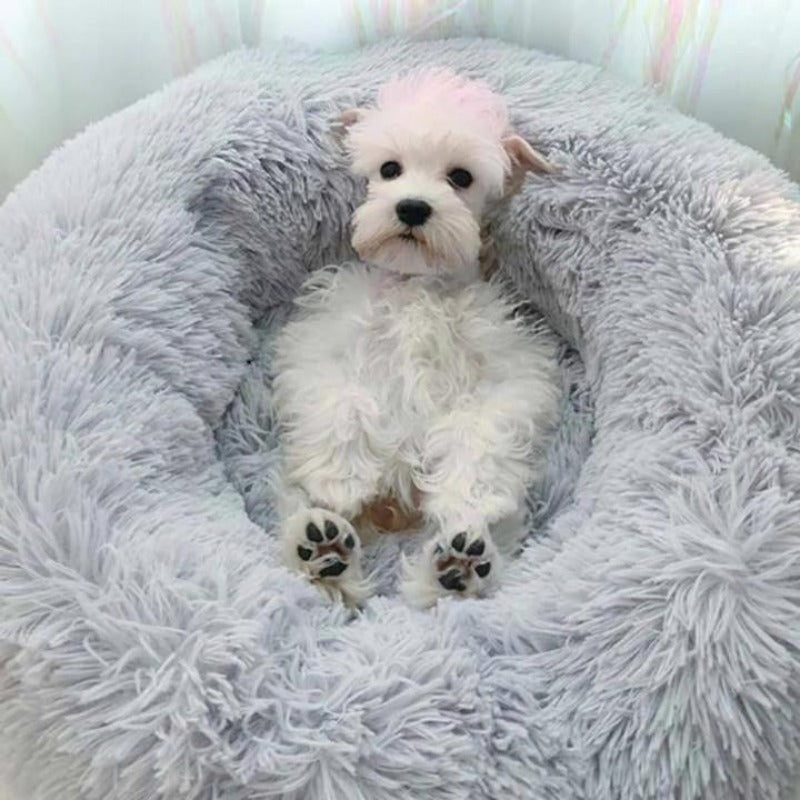 Comfy Pet Bed Calming High Stretch Soft Faux Fur for Dogs &  Cats