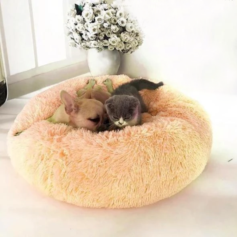 Comfy Pet Bed Calming High Stretch Soft Faux Fur for Dogs Cats