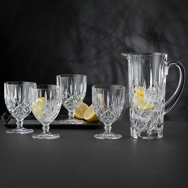 Nachtmann Noblesse Collection - Pitcher & Tall Goblets Glasses Set of 5