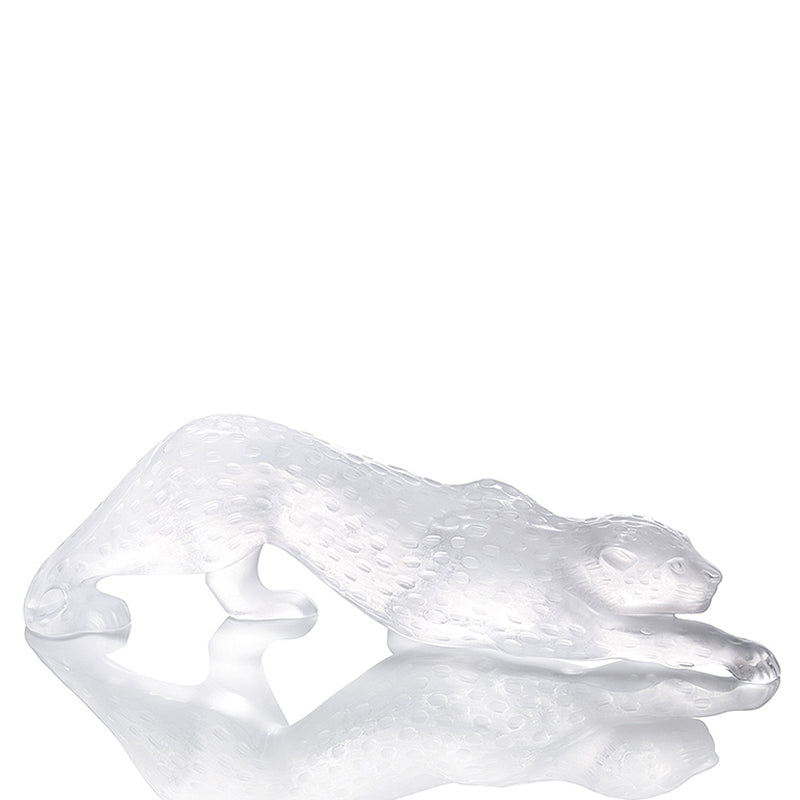 Lalique Zeila Panther Sculpture Large Size in Clear