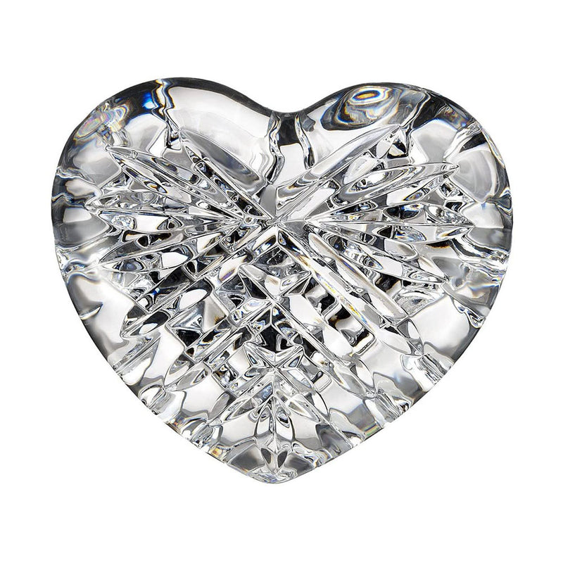 Waterford Crystal Celtic Heart Paperweight / Hand Cooler