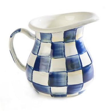 MacKenzie-Childs Royal Check Enamel Creamer
