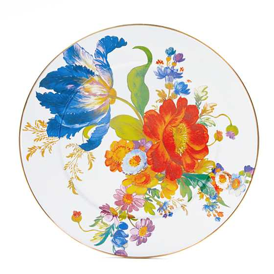 MacKenzie-Childs Flower Market Serving Platter - White