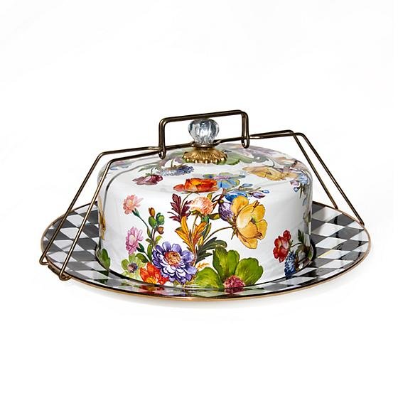 MacKenzie-Childs Flower Market Enamel Cake Carrier