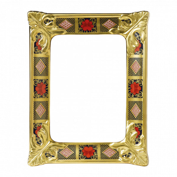 Royal Crown Derby Old Imari Solid Gold Band Picture Frame S/S