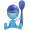 Alessi A di Cico Egg Cup with Salt Castor and Spoon - Blue